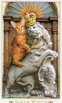 Three of Wands- Baroque Bohemian Cats Tarot
