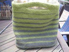 Felted knit bag. Cute.