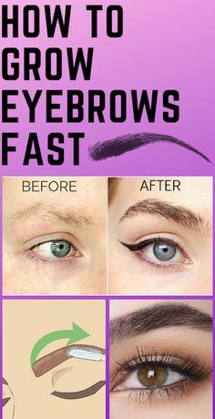 How to Grow Eyebrows Fast!- How to Grow Eyebrows Fast! How to Grow Eyebrows Fast! Thick Brows, Thicker Eyebrows, Sparse Eyebrows, Perfect Eyebrows, Natural Brows, Natural Beauty, How To Grow Eyebrows, Growing Eyebrows, Grow Eyelashes