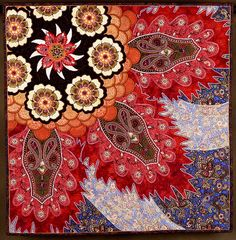 OMG - radiant - Finely beaded quilt by master instructor, Lisa Binkley, at the Quilt Surface Design Symposium June 2011