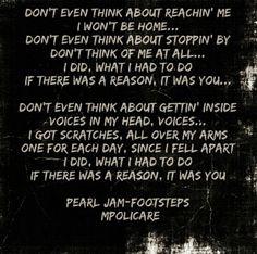 Footsteps - Pearl Jam