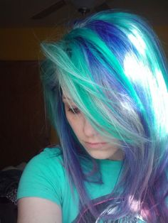 purple turquoise blue hair by venuss flytrap Check out this website to see how I lost 19 pounds in one month