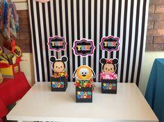 Bonitos centros de mesa tema Tsum Tsum