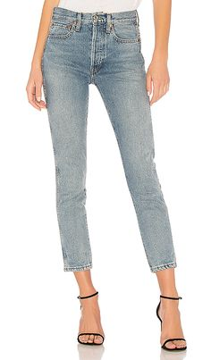 7b3bd1704a50 Shop for RE DONE Originals Double Needle Crop in Wash Vain at REVOLVE. Free