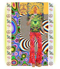 """Psychedelic"" by pepitarita ❤ liked on Polyvore featuring art"