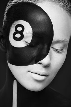 Weird Beauty, Photos of Faces Painted in Bold Black & White Designs