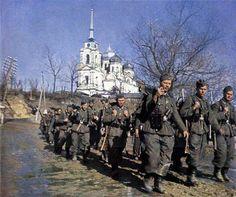 German soldiers marching