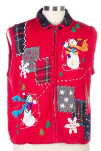 Red Ugly Christmas Vest 26439
