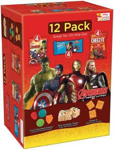 I'm learning all about Kellogg's Marvel Avengers Age of Ultron Snacks Variety Pack 12 ct Box at @Influenster!