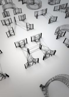 繊細, 無機質, / lines, B&W, 3D   typeverything.com, Dan Hoopert - Typeverything