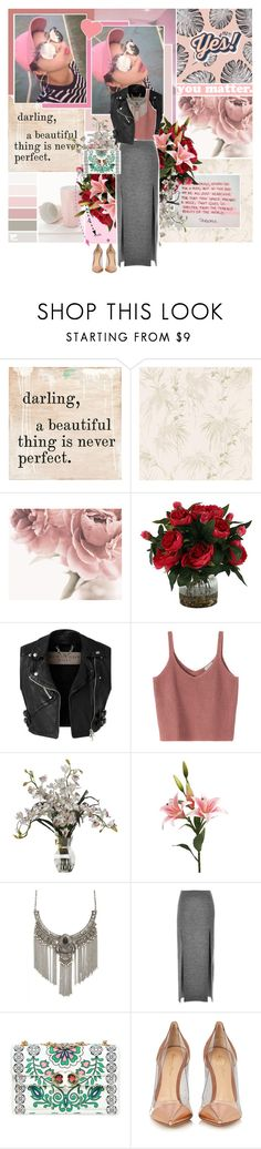 """Release me from the present"" by aliicia21 ❤ liked on Polyvore featuring Brewster Home Fashions, Burberry, Forever 21, Wes Gordon, Tory Burch, Gianvito Rossi and Anya Hindmarch"