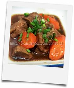 - simple pinoy recipes! -: Braised Beef ala Chowking