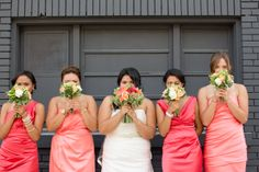 ombre bridesmaids http://www.weddingchicks.com/2013/11/27/brunch-wedding/