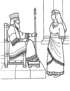 queen esther became kings lovely queen coloring page