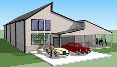 Bradley Mighty Steel RV Garage for sale, RV Shelter pricing Rv Garage, Garage House, Garage Plans, Garage Ideas, Shed Floor Plans, Barn Plans, House Plans, Garage Design, House Design