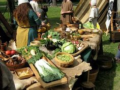 Viking Food: Food at a viking fest-representing what was eaten in the viking age- real food