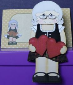 Card Gallery - 3D On the Shelf Card Kit - Love & Romance Scottish Old Lady