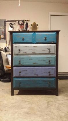 multi colored distressed dresser rustoleum american accents grit sandpaper rustoleum for top will give how to if needed