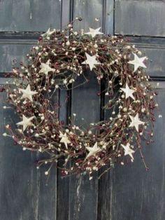 Cool Rustic Wreaths Christmas Decoration Ideas13