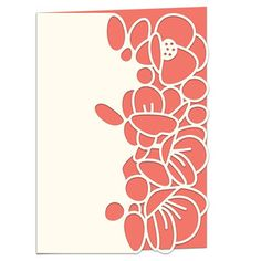 Silhouette Design Store - View Design #130850: flowering quince lace edged card