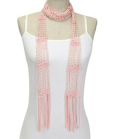 Coral Beaded Scarf by Passion for Fashion #zulily #zulilyfinds