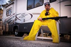 My brother, a Leukemia survivor, as Walter White of 'Breaking Bad', for 'Famously Bald'