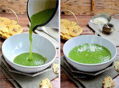 Supă cremă de broccoli cu rondele de parmezan Palak Paneer, Ethnic Recipes, Food, Bebe, Essen, Meals, Yemek, Eten
