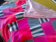 Lappendeken van oude kleding