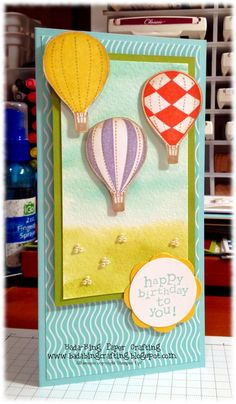 SU Up, Up & Away - Popped up hot air balloons with dimensionals - bjl