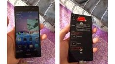 Huawei Ascend P7 caught on camera along with another mystery device