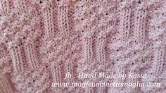 blanket for bebè; 50% cotton, 50% acrilic; 56cm x 41cm; created by Kasia Waszkiewicz