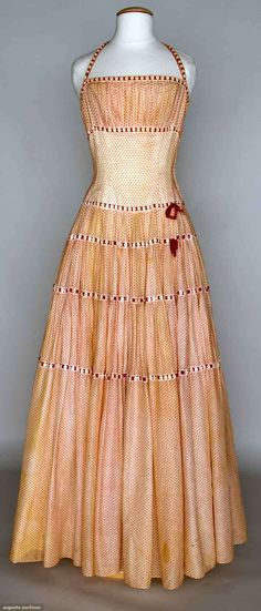 Dotted Swiss Summer Gown, 1950s, Augusta Auctions, November 13, 2013 - NYC, Lot 94