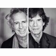 #keithrichards and #mickjagger by James Petrozzello.