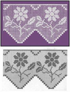 - Dalia Ivanova - Álbuns da web do Picasa Crochet Patterns Filet, Crochet Lace Edging, Crochet Borders, Crochet Doilies, Crochet Flowers, Crochet Stitches, Fillet Crochet, Crochet Curtains, Crochet Snowflakes