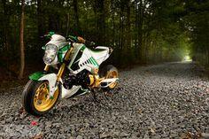 """Slice"" 2014 Honda Grom Honda Grom Custom, 2014 Honda Grom, Motorcycle Gear, Bike, Video New, Badass, Bicycle, Bicycles"