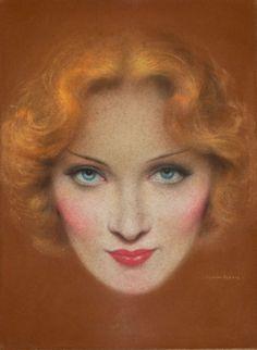 "Charles Gates Sheldon, Marlene Dietrich - ""The Blonde Venus"", Screenland magazine cover, September"