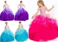 Image result for pink and blue and purple dresses for kids