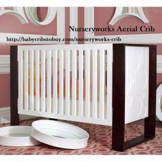 Aerial Circle Crib Snow and Dark and Luxury Baby Cribs in Baby Furniture Modern Baby Cribs, Modern Baby Furniture, Baby Nursery Furniture, Nursery Bedding, Modern Nurseries, Nursery Works, Chic Nursery, Nursery Decor, Nursery Ideas