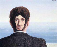'il vetro Casa', guazzo di Rene Magritte (1898-1967, Belgium)