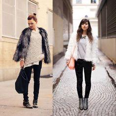 Peacock Feather Faux Fur Outwear Jacket Ladies Long Sleeve Coat 3Clors