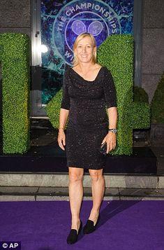 All smiles: Nine-time champion Martina Navratilova...dressed by www.havingaballdresshire.co.uk