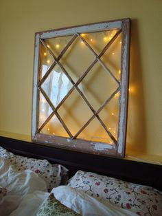great upcycle window SaucyDwellings - Show Us Your...Saucy Headboards