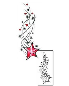 Shooting Star Tattoos AAF-11099 Created by Andrea Ale
