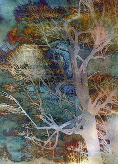 Sunset Tree #2: Joanie San Chirico: Acrylic Painting - Artful Home