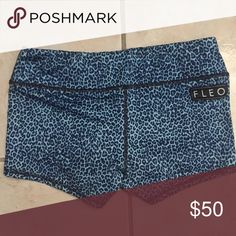 Fleo shorts Fleo crossfit workout shorts. Blue leopard cheetah print Shorts