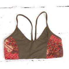 TEVITA OM CONTRAST PRINT SPORTS BRA - khaki  yoga / fitness / sportswear / activewear / pilates / health / boho / tevita / tevitalifestyle / lifestyle / gym / print / pattern