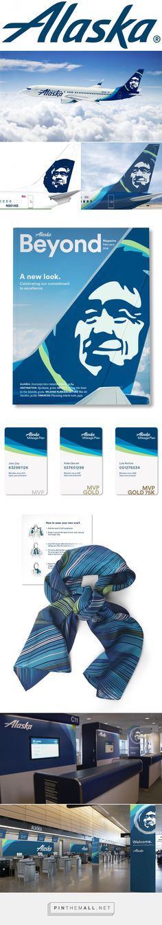 Brand New: New Logo, Identity, and Livery for Alaska Airlines by Hornall Anderson - created via https://pinthemall.net