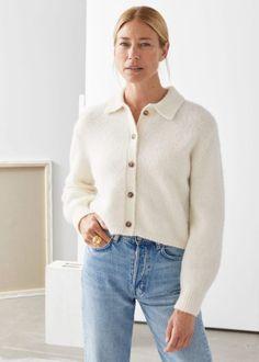 cozy-cardigan-scandinavina-style-fashion-autumn-nordic White Cardigan, Cropped Cardigan, Wool Cardigan, Best Cardigans, Jeans Straight, Street Style, Nordic Style, Fashion Story, Style Fashion