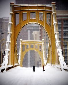 Pittsburgh, PA - Would love a picture like this of J and I for our house. But that would require a visit there in the snow and coooooold.