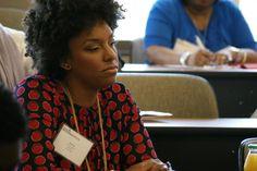 Edelman's Cherise Adkins listens intently at the #NABJPR: Media Institute